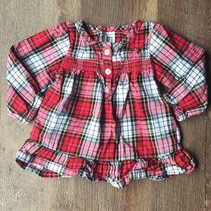 Plaid♥️Long Sleeve Blouse